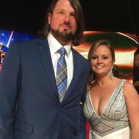 AJ Styles with his wife Wendy Jones