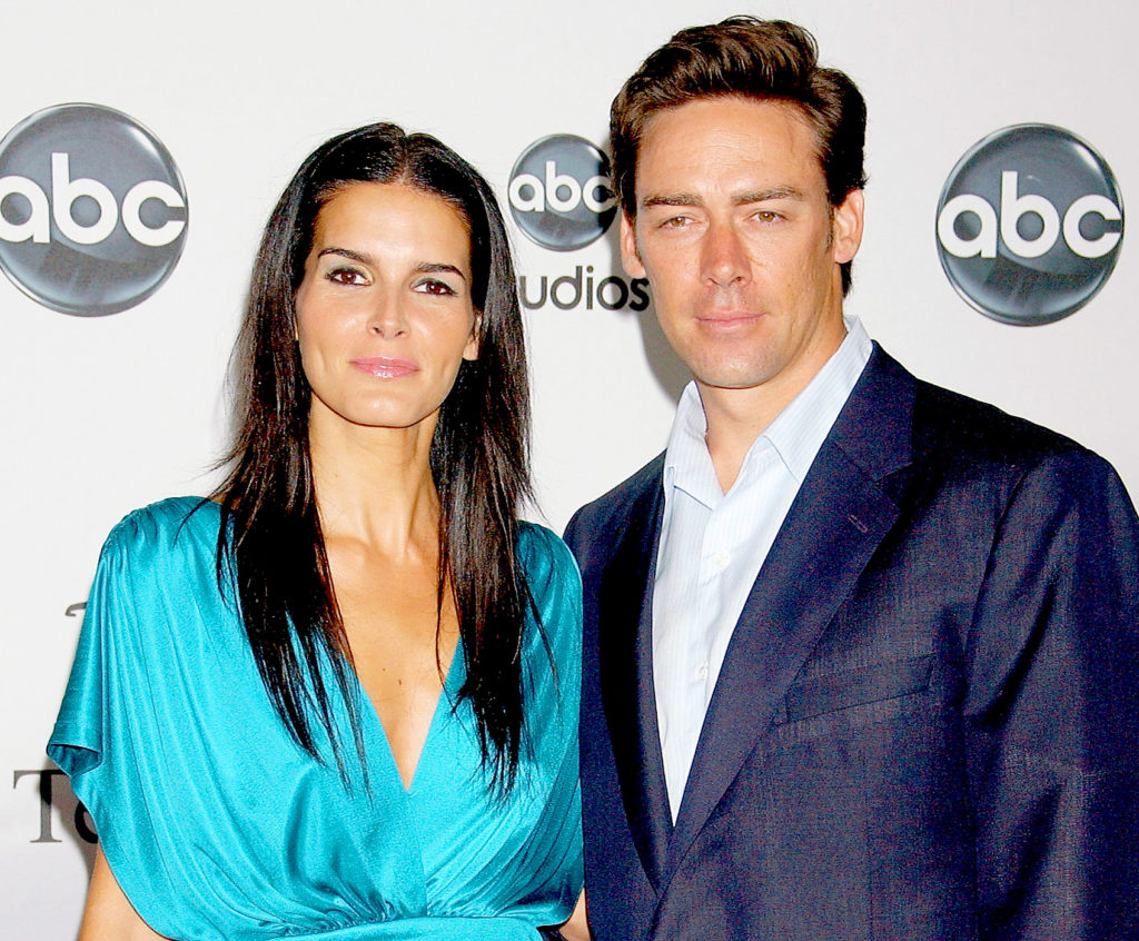 Angie Harmon with her husband