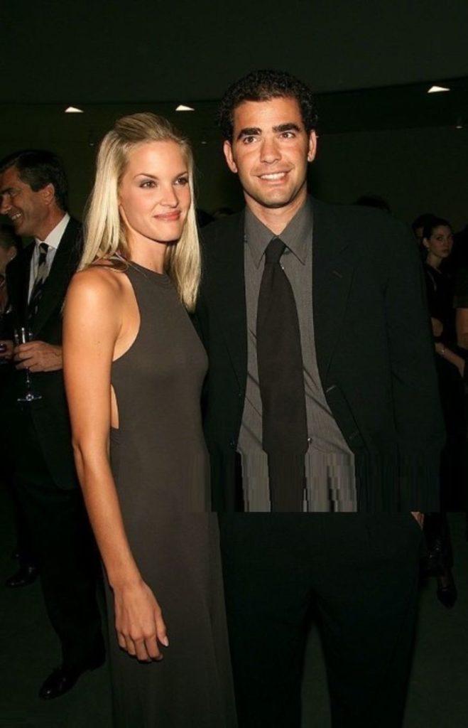 Bridgette Wilson with her husband