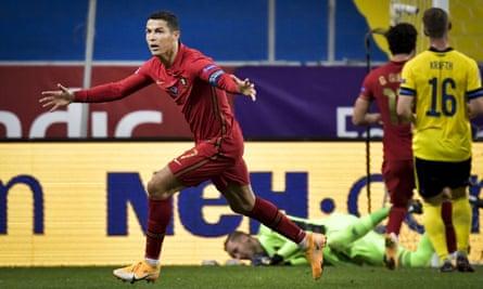Ronaldo nets 100th international goal in Portugal's win