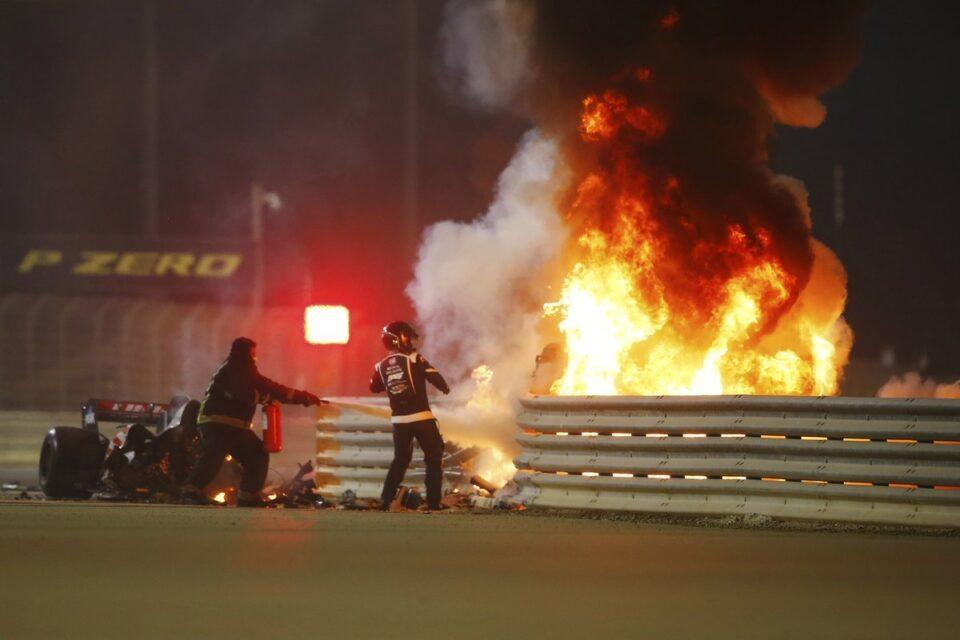 bahrain GP fire