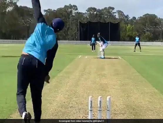australian players practicing