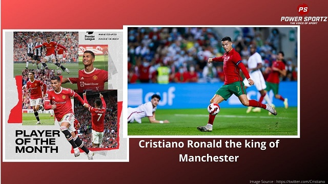 Cristiano Ronald the king of Manchester